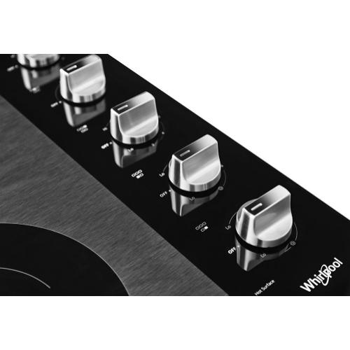 Whirlpool - 30-inch Electric Ceramic Glass Cooktop with Two Dual Radiant Elements