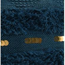 Seine Ink Blue Pouf 18x18x14