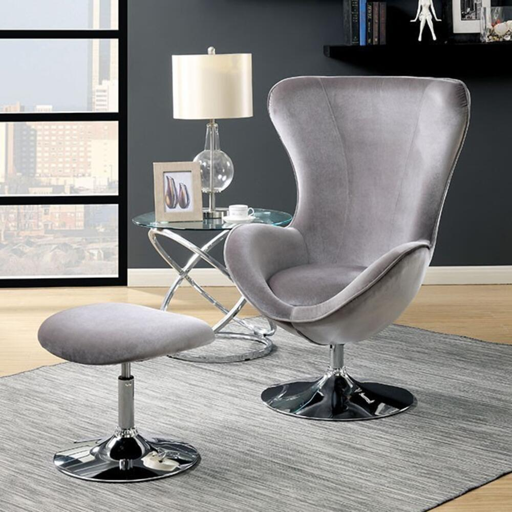 Shelia Accent Chair w/ Ottoman