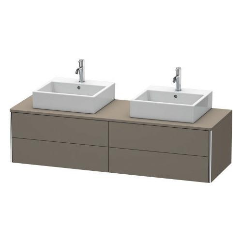Product Image - Vanity Unit For Console Wall-mounted, Flannel Gray Satin Matte (lacquer)
