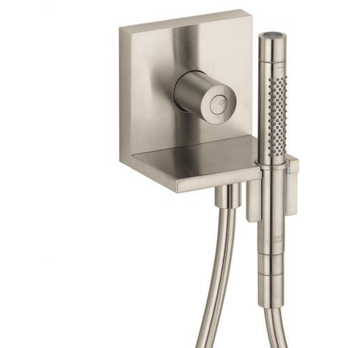 """Brushed Nickel Handshower Module Trim 5"""" x 5"""", 1.75 GPM"""