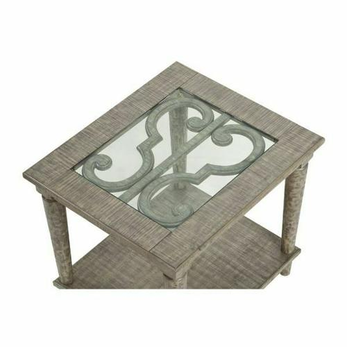 86092 In By Acme Furniture Inc In Atlanta Ga Acme Artesia End Table 86092 Salvaged Natural Glass