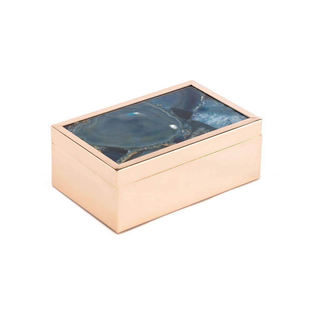 Small Stone Box Blue