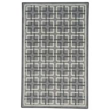 Square Trellis Grey Hand Tufted Rugs