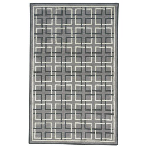 Square Trellis Grey Hand Tufted Rugs
