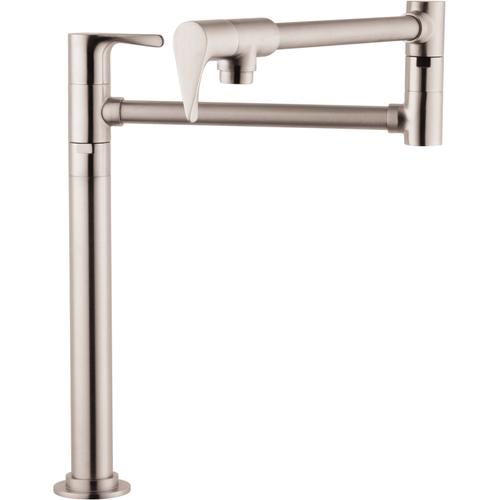 Steel Optic Pot Filler, Deck-Mounted