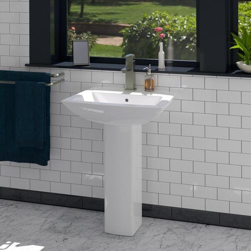 "Product Image - Burke Pedestal Lavatory - 6"" Mini Widespread"