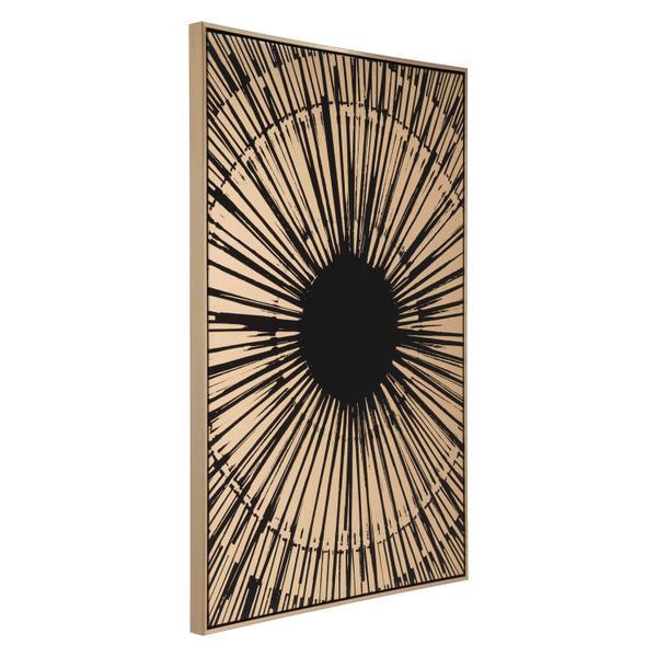 See Details - Gold Sunburst Canvas Black & Gold