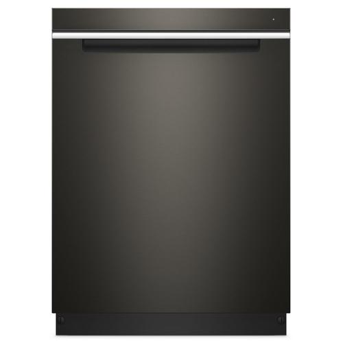 Whirlpool - Stainless Steel Tub Pocket Handle Dishwasher with TotalCoverage Spray Arm Fingerprint Resistant Black Stainless