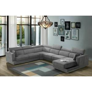 ACME Alwin Modular - Left Arm Facing Sofa - 53720 - Dark Gray Fabric