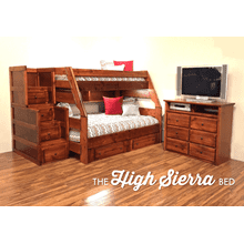 High Serria Staircase Bunk Bed Cocoa Finish