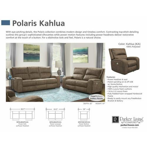 Parker House - POLARIS - KAHLUA Power Loveseat