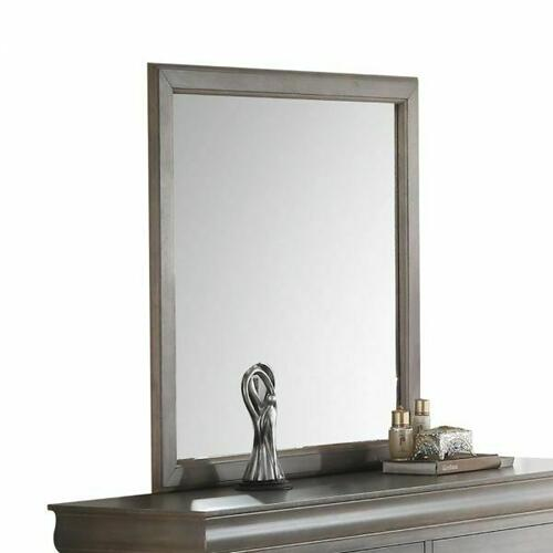 ACME Louis Philippe III Mirror - 25504 - Antique Gray