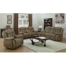 See Details - Houston Casual Tan Reclining Three-piece Living Room Set