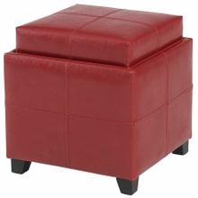 See Details - Anton II Square Storage Ottoman in Red