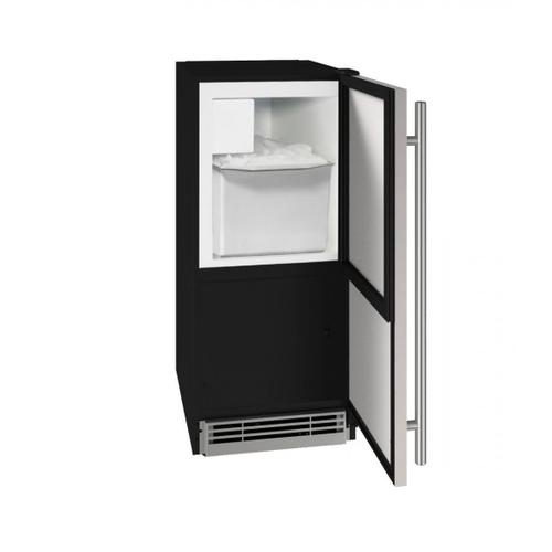 """U-Line - Hcr115 15"""" Crescent Ice Maker With Stainless Solid Finish (115v/60 Hz Volts /60 Hz Hz)"""