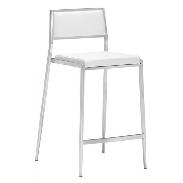 Dolemite Counter Chair White