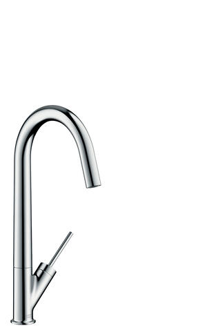Chrome Single lever kitchen mixer 300 with swivel spout Eco Product Image