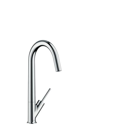 Chrome Single lever kitchen mixer 300 with swivel spout