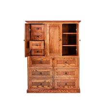 See Details - Forest Designs Mission Ten Drawer Armoire: 46W X 60H X 18D (Four Hidden Drawers)