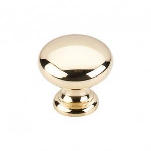 Mushroom Knob 1 1/4 Inch - Polished Brass