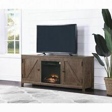 ACME Ciel TV Stand (Optional Fireplace) - 91428 - Farmhouse - Melamine Veneer, Paper Veneer, PB, Ply - Oak