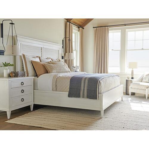 Royal Palm Louvered Bed Queen Headboard