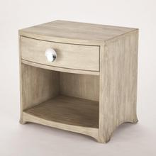 Product Image - Bow Front One Drawer Chest-Grey