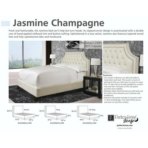 JASMINE - CHAMPAGNE Queen Footboard and Rails 5/0 (Natural)