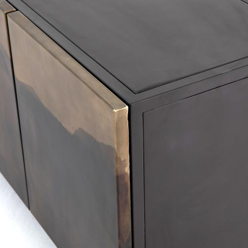 Stormy Media Console-aged Brown