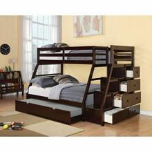 ACME Jason Twin/Full Bunk Bed w/Storage Ladder & Trundle - 37015 - Espresso