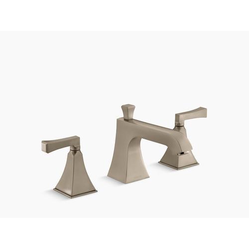 Kohler - Vibrant Brushed Bronze Deck-mount Bath Faucet Trim for High-flow Valve With Diverter Spout and Deco Lever Handles, Valve Not Included