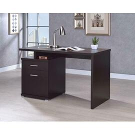 See Details - Office Desk With Drawer In Cappuccino