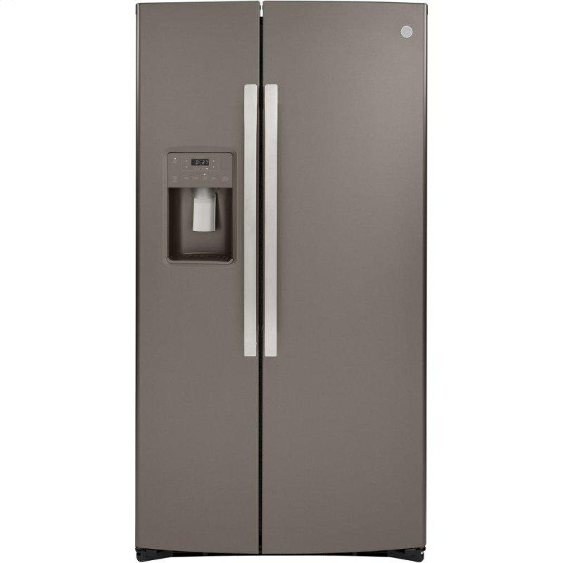 GE(R) 21.8 Cu. Ft. Counter-Depth Side-By-Side Refrigerator
