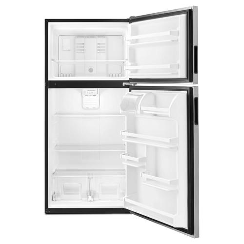 30-inch Amana® Top-Freezer Refrigerator with Glass Shelves Stainless Steel