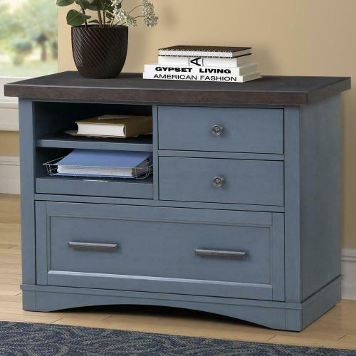 Parker House - AMERICANA MODERN - DENIM Functional File with Power Center