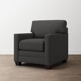 Charcoal Alexander Track Arm Chair