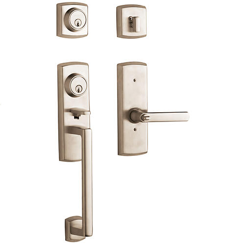 Baldwin - Satin Nickel with Lifetime Finish Soho Two-Point Lock Handleset