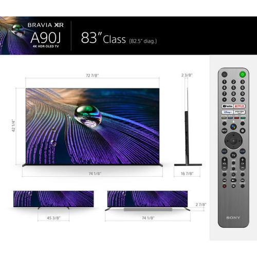 Sony - BRAVIA XR A90J 4K HDR OLED with Smart Google TV (2021) - 83''