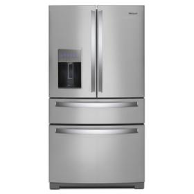 36-inch Wide 4-Door Refrigerator with Exterior Drawer - 26 cu. ft. Fingerprint Resistant Stainless Steel