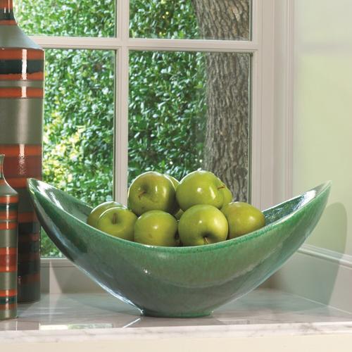 Global Views - Swoop Bowl-Emerald