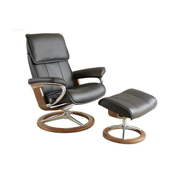 Stressless By Ekornes - Stressless Admiral Large Signature Base Chair and Ottoman