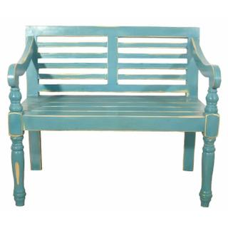 See Details - Turquoise Rubbed Bench