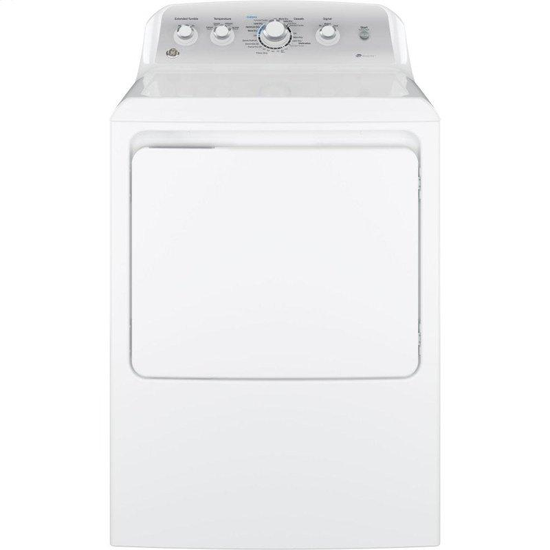GE(R) 7.2 cu. ft. Capacity aluminized alloy drum Electric Dryer with Sensor Dry