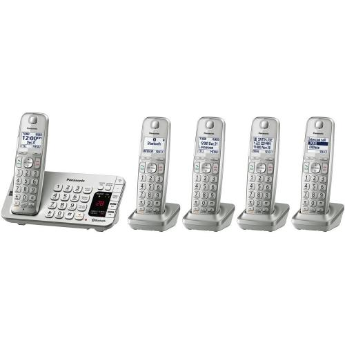 Link2Cell Bluetooth® Cordless Phone with Large Keypad- 5 Handsets - KX-TGE475S