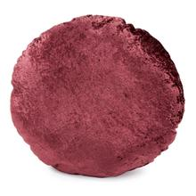 "18"" Round Pillow Amaron Raisin Crushed Velvet"