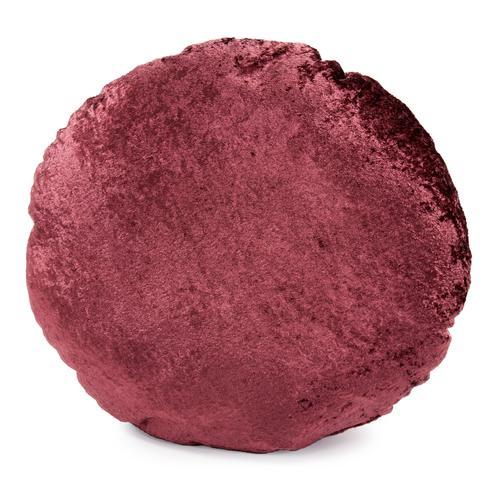 "18"" Round Pillow Amaron Raisin Crushed Velvet"