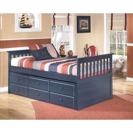 Twin Leo Captains Bed w/ Trundle