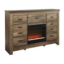 Trinell Dresser W/Fireplace Insert Brown