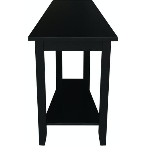 John Thomas Furniture - Keystone Accent Table in Solid Black